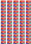 China Languages Flag Stickers - 65 per sheet